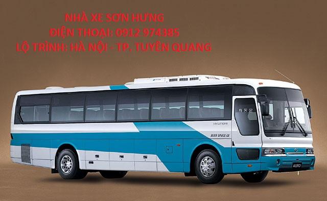 xe khách chạy tuyến Hà Nội - Tuyên Quang