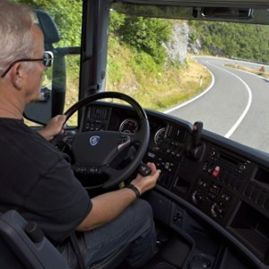 Driving downhill with Scania retarder.  Arco, Italy  Photo: Dan Boman 2010