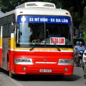 xe bus từ Bến xe Giáp Bát đến Phố Nỉ