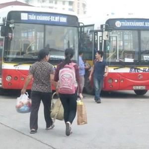 xe bus từ Bến xe Giáp Bát đến ĐH Điện Lực, CĐSP Mẫu giáo Trung ương