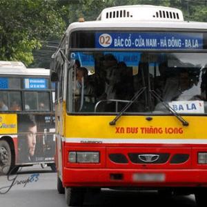 Lộ trình 5 tuyến xe bus từ Bến xe Mỹ Đình đến Đại học Công nghệ Giao thông Vận tải
