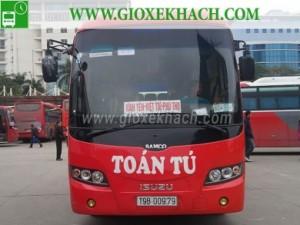 Xe khách tuyến Bản Nguyên – Việt Trì đi bến xe Mỹ Đình nhà xe Toàn Tú